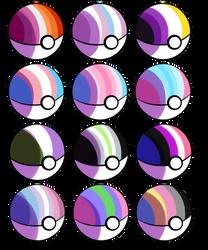 LGBTQIA Pokeballs [Set 2]