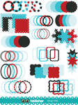 Christmas Clip Art Circle Frames