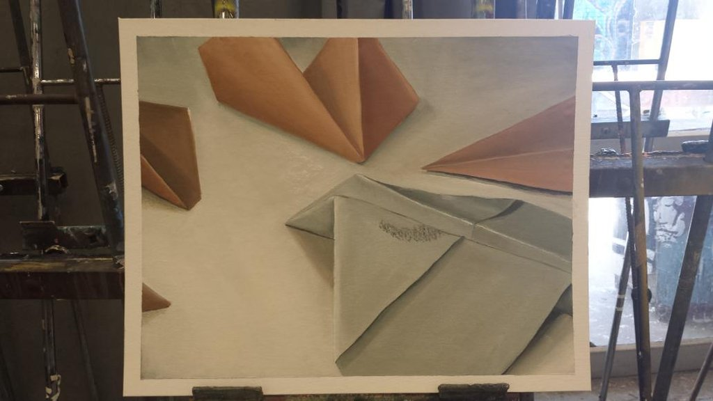 [Painting] Paper Planes by jaljello