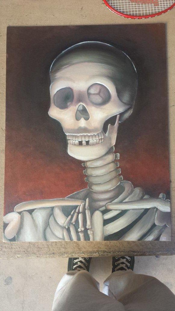 [Painting] Skeleton by jaljello