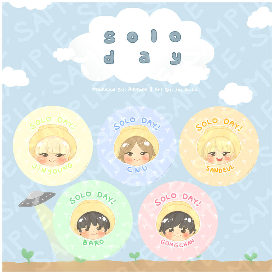 [B1A4] Solo Day Pins