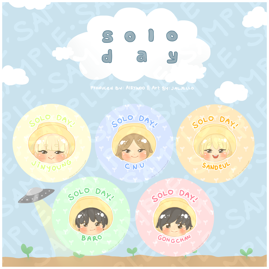 [B1A4] Solo Day Pins by jaljello