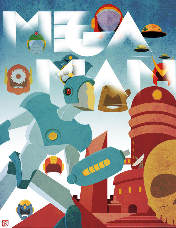 Megaman II Art Deco poster by AugustoSasa