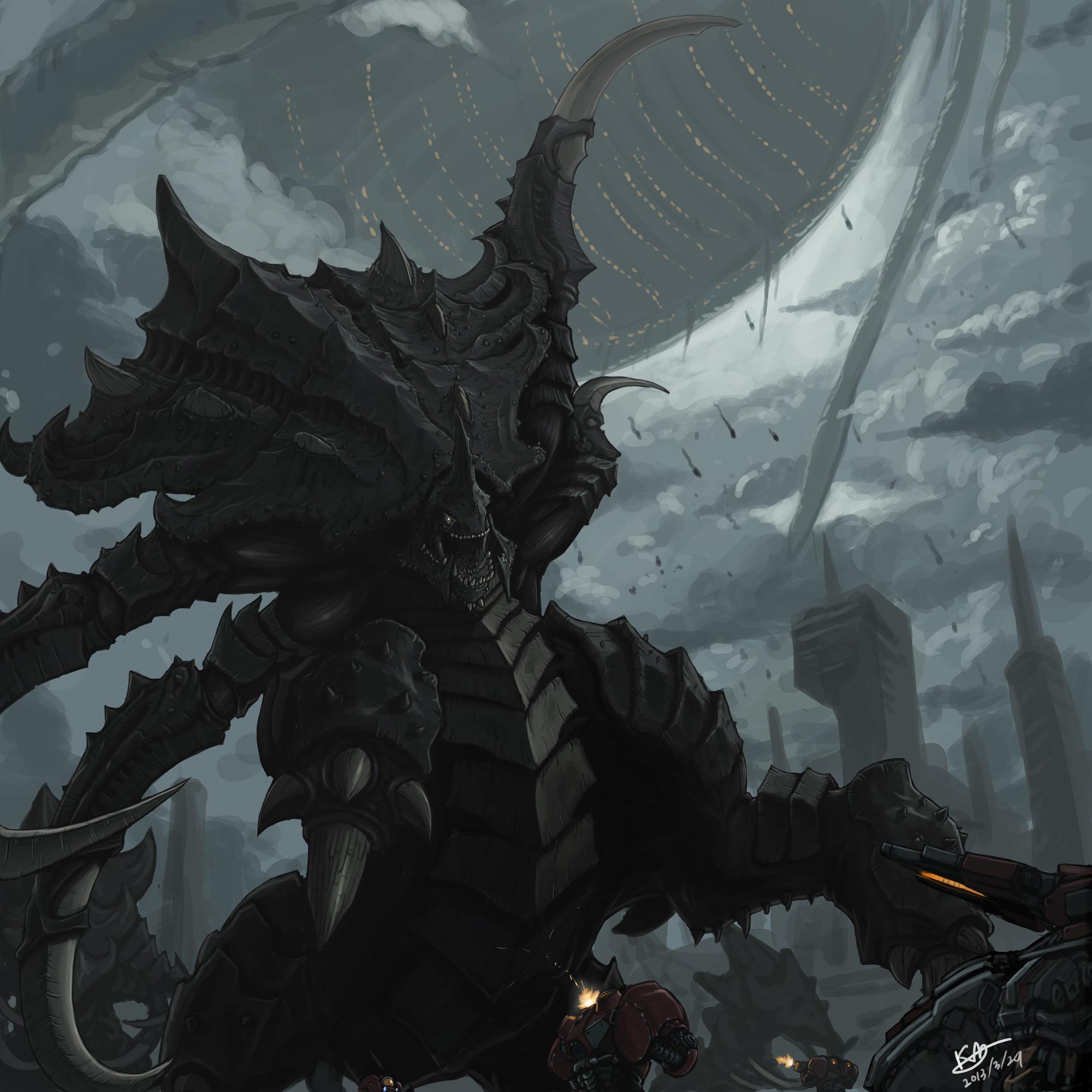 StarCraft 2 Ultralisk by kimbbq