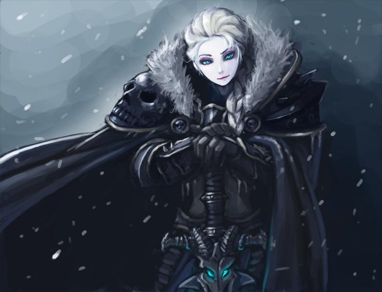 frozen elsa the lichqueen by kimbbq