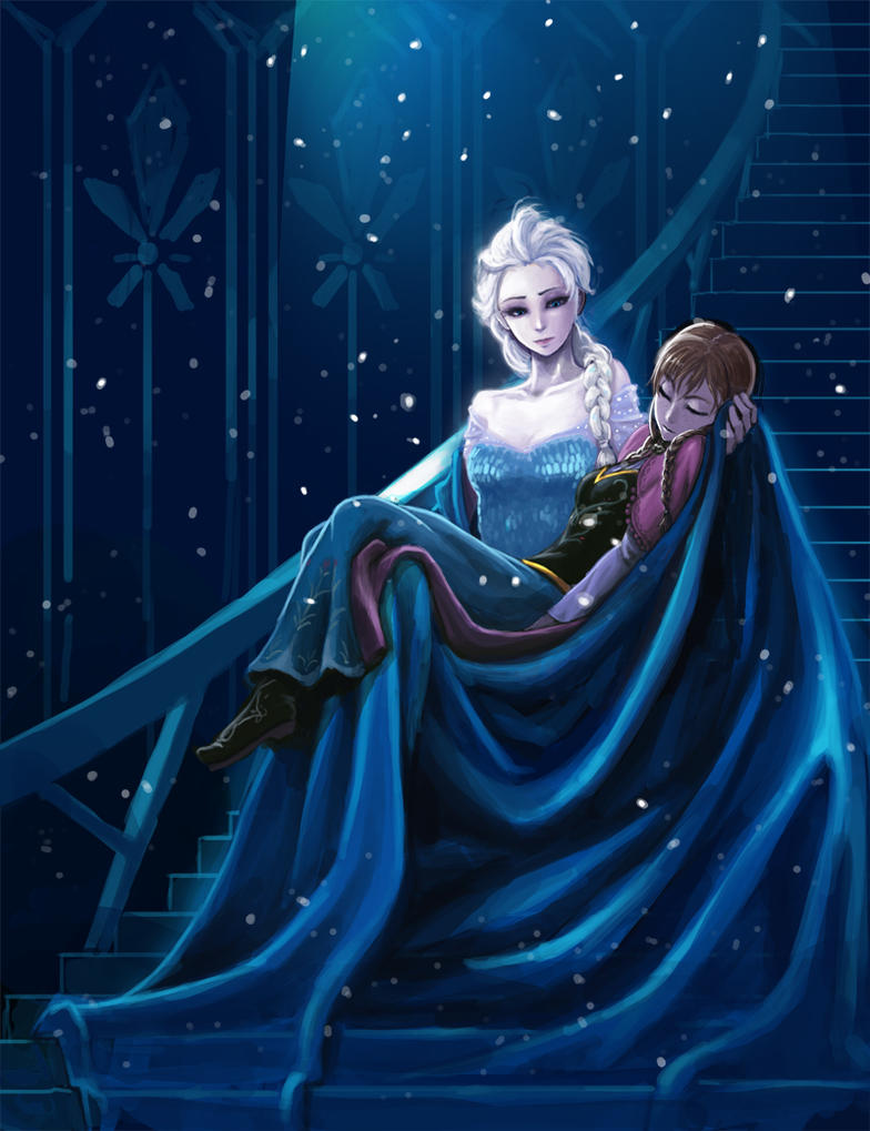 frozen elsa anna by kimbbq