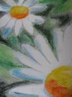 daisy mixed media by misshoneywoo