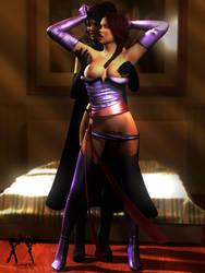 Commission - Serena and Lynn Halloween Cosplay by RenderPretender