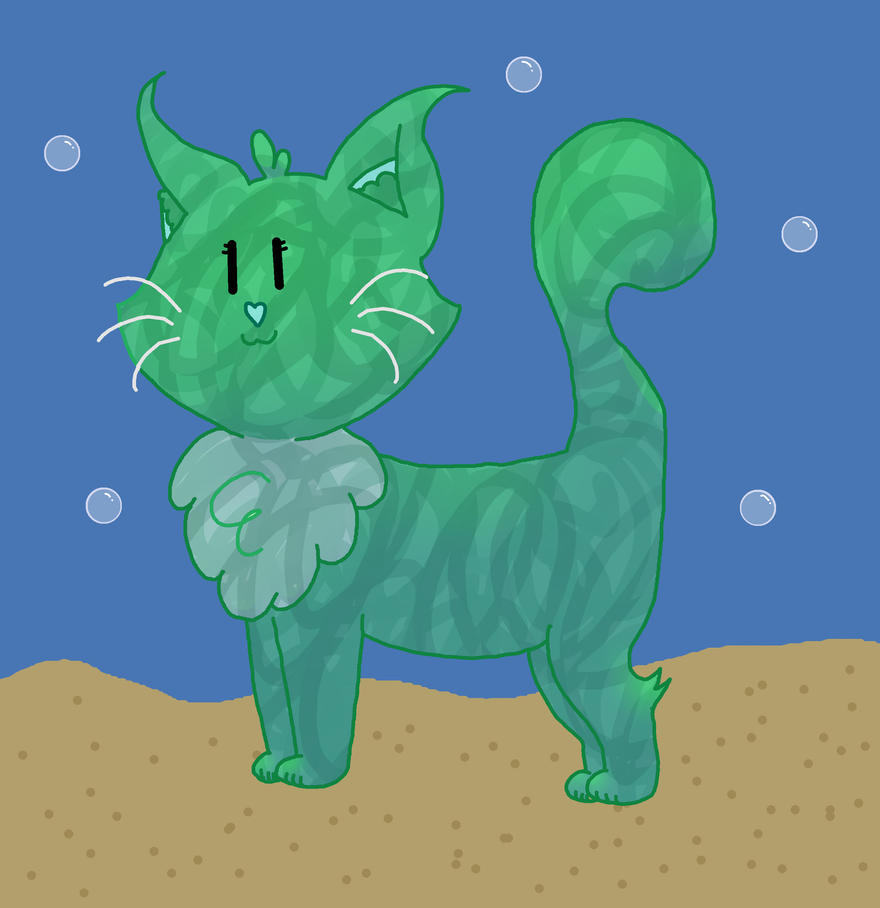 Sea Foam Kitty Adopt by BuffydaSLAYAH17