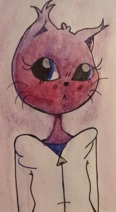 Fluffy blushing watercolor by BuffydaSLAYAH17