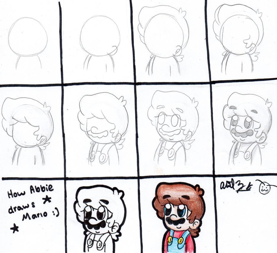 How Abbie Draws Mario ^^ by BabyAbbieStar