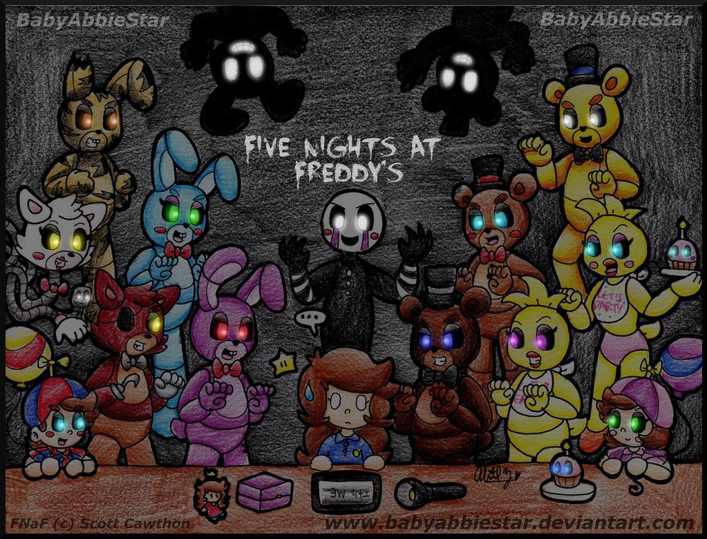 Five nights at freddy s by babyabbiestar on deviantart