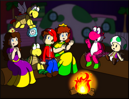 PC: Evening Campfire by BabyAbbieStar