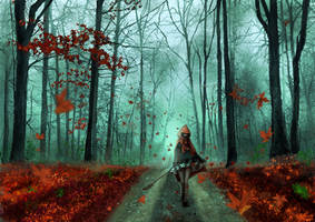 Autumn walk - first day of autumn ver.2. by ximbixill