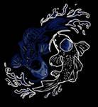 Yin and Yang koi fish form