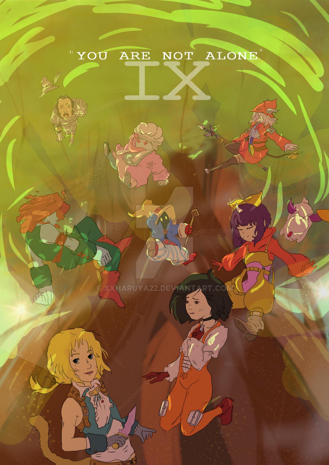 FFIX Poster Process by XXHaruya22