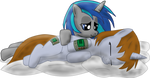 Littlepip and Homage on pillows