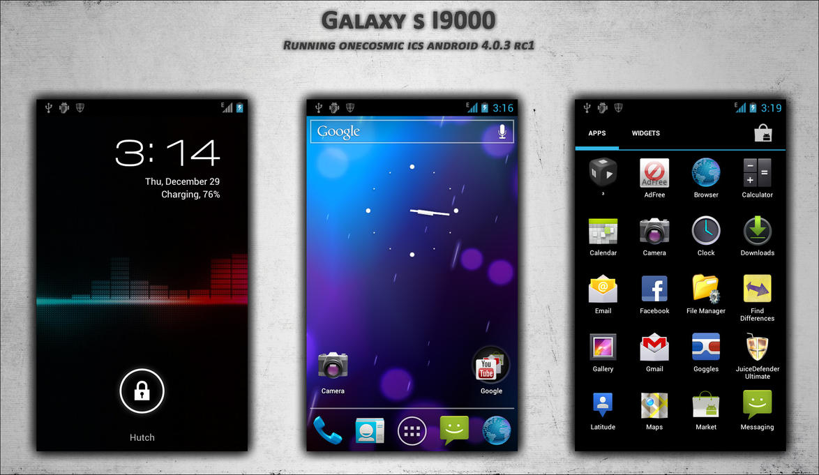 Galaxy S I9000 running ICS 4.0.3 by mACrO-lOvE