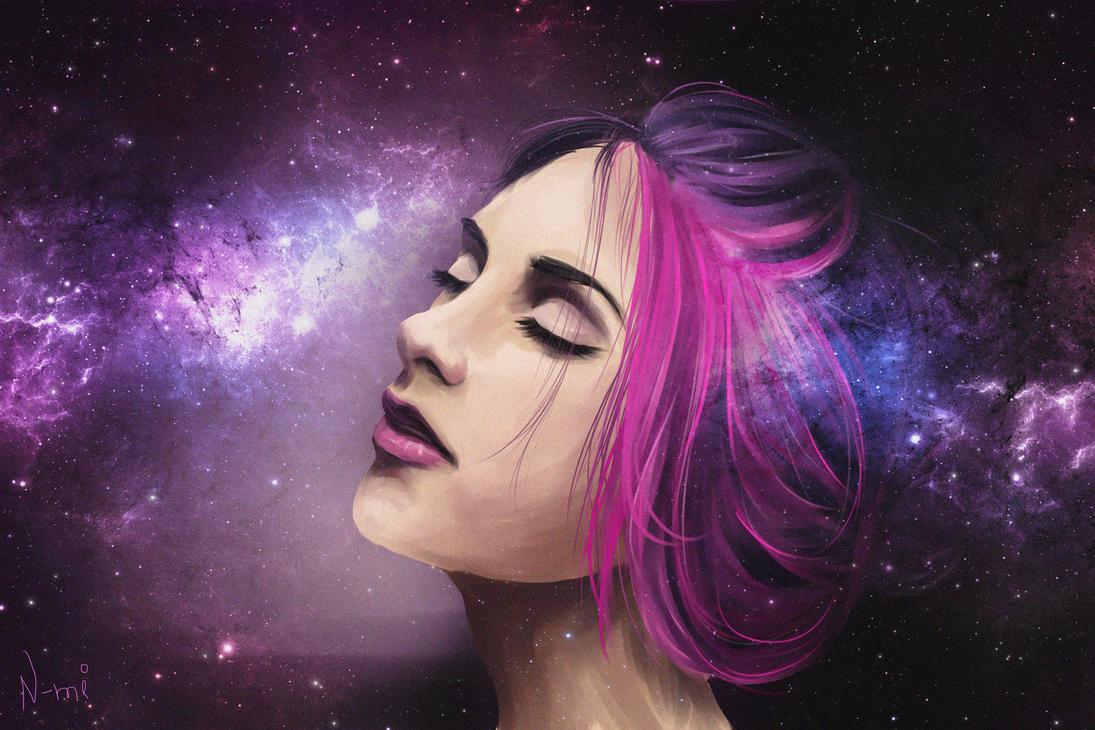 Galaxy girl by Nozomi-Art