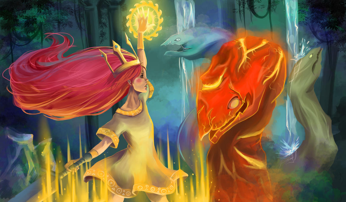 Aurora|Child of light by Nozomi-Art