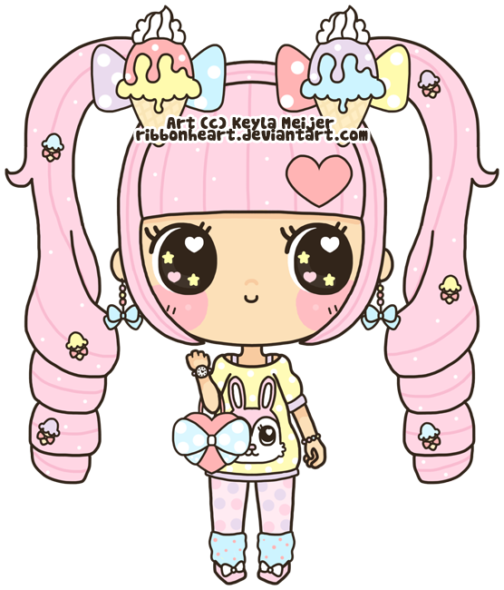 Quand tu  tape KAWAII sur google ! Hearts_and_ice_cream_by_ribbonheart-d3b50kw