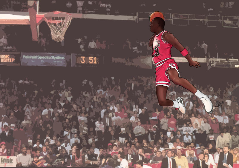88 Jordan Leapin From The Free Throw By Pcgvrtx On Deviantart