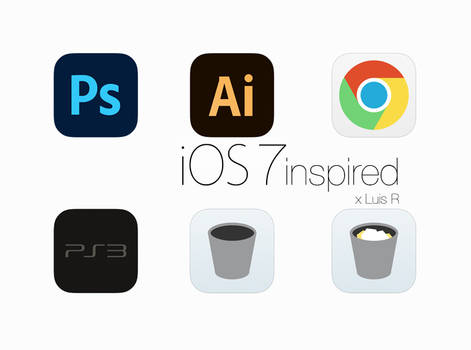 iOS 7 inspired Icons