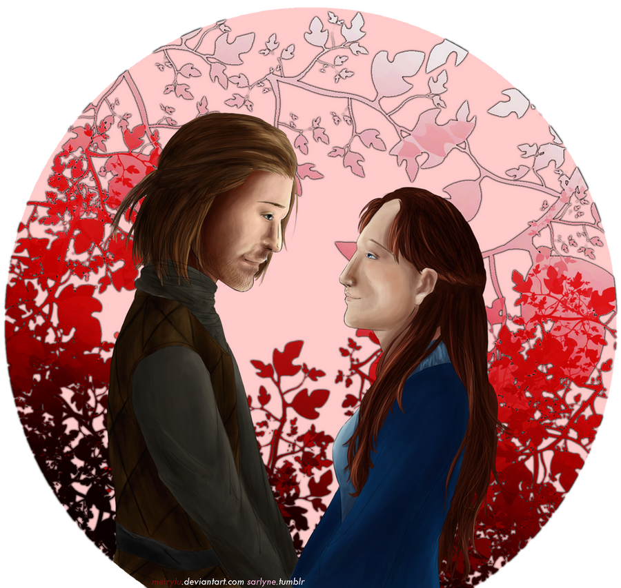 GoT: Eddard Stark and Catelyn Tully by SarlyneART