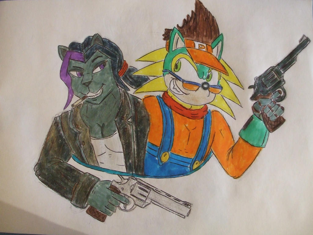 Angela panther and Dett carmine - reovler duo by spyaroundhere35