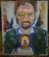 me and my dad - in progress by mushroomline
