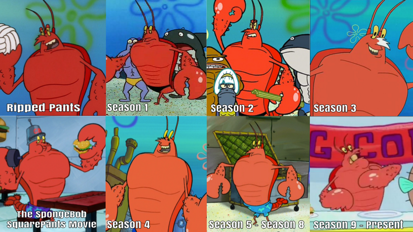 Larry The Lobster Over The Years by KingBilly97 on DeviantArt