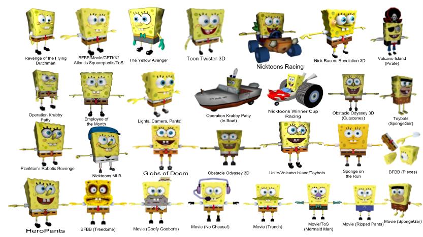 Spongebob 3d Model Comparison By Kingbilly97 On Deviantart