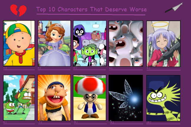Top 10 Characters That Deserve Worse by KingBilly97