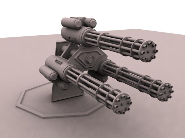 Minigun .50-Cal Tri-Barrel - Fallout 4 / FO4 mods