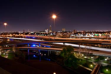Night Shot: Houston Freeway by hhjr