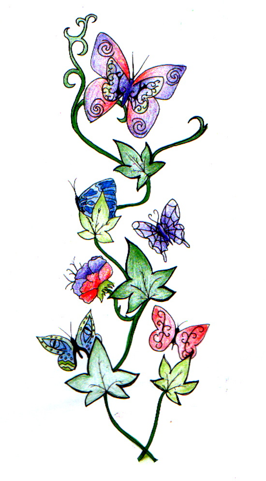 butterfly ivy vine by munchtr on deviantart. Black Bedroom Furniture Sets. Home Design Ideas