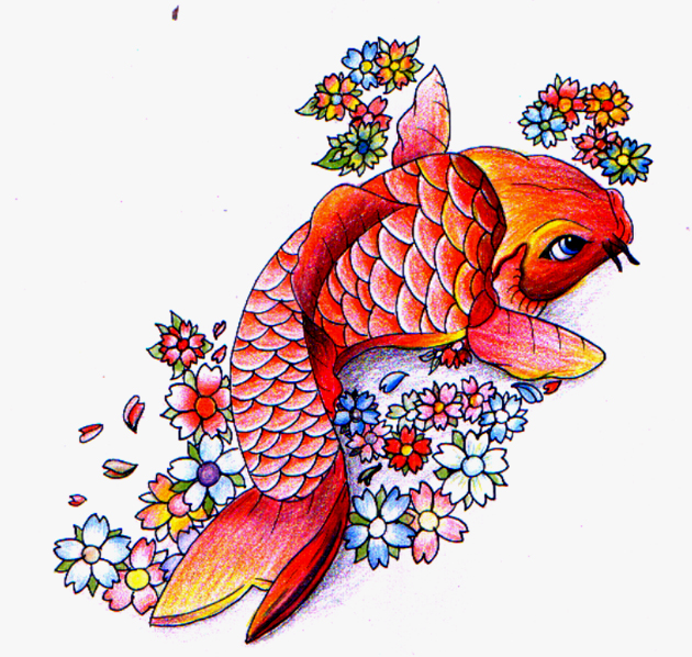 Japanese Koi Fish Tattoo Designs Gallery 11