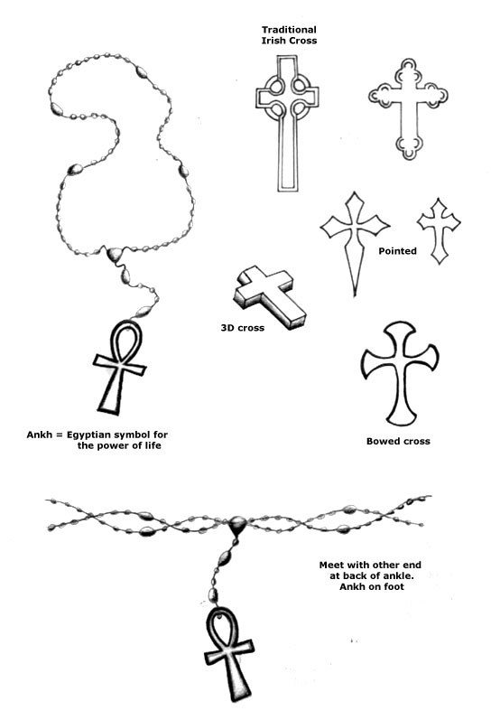 Tattoos Of Hands And Rosary Beads. Rosary beads and cross tattoo