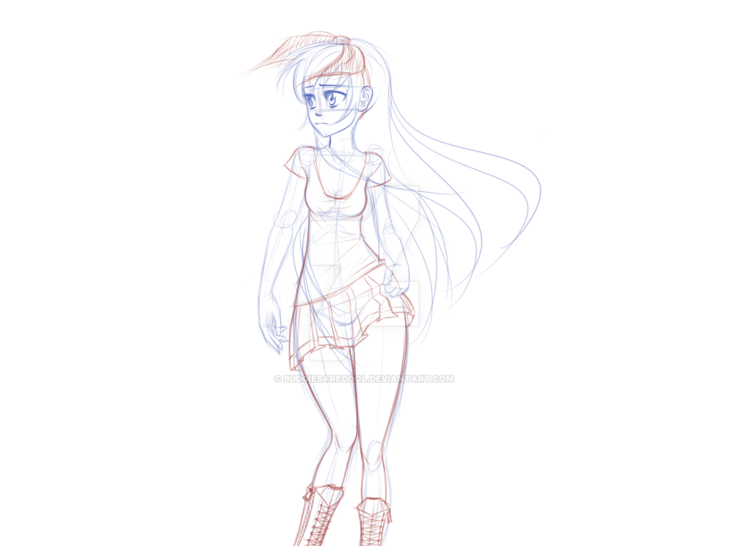 Line Art Ribbon : Ribbon breeze sketch by budgiesarecool on deviantart