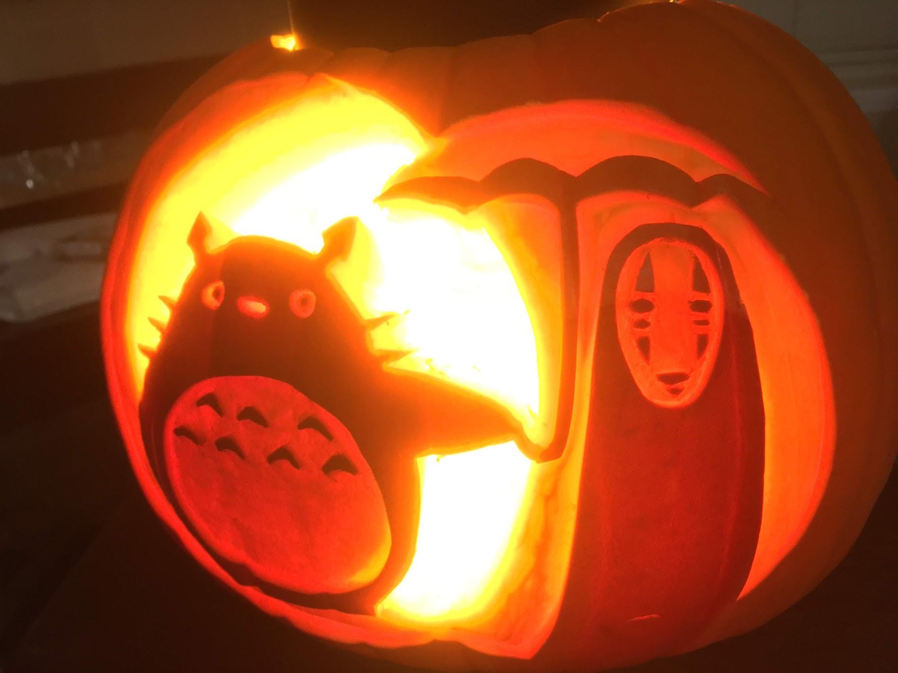 Totoro D Away Pumpkin By Budgiesarecool On Deviantart
