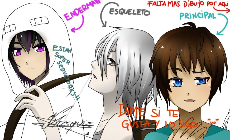 MInecraft Anime Ver. sketch LEE LA DESCRIPCION! by Vika01