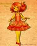 Flame princess dress