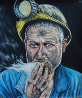 Coal Miner - Colored Pencil by JeremyOsborne