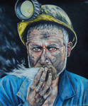 Coal Miner - Colored Pencil