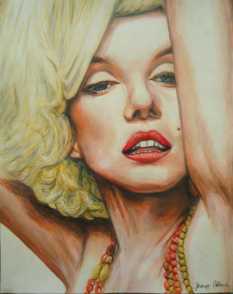 Marilyn Monroe color by JeremyOsborne