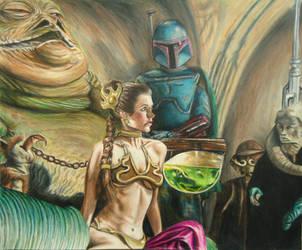 Princess Leia in Jabba's Palace by JeremyOsborne