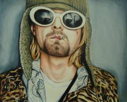 Kurt Cobain Colored Pencil drawing