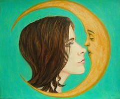 Kissing Crescent Moon