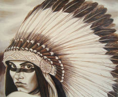 Sepia Tone Headdress