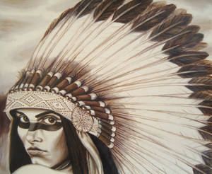 Sepia Tone Headdress